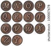 aged metal vintage alphabet...