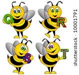 letter bee vector. | Shutterstock .eps vector #10001791