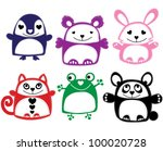 cute animals   t shirt graphics ... | Shutterstock .eps vector #100020728
