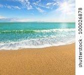 sea shore at summer sunny day   Shutterstock . vector #100026878