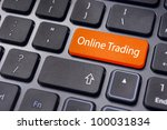 keyboard enter key with message, for online or internet trading concepts. - stock photo