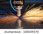 industrial laser cutting... | Shutterstock . vector #100039370