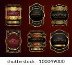 decorative ornate label... | Shutterstock .eps vector #100049000