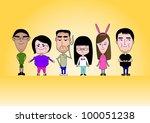 family | Shutterstock .eps vector #100051238