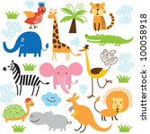 set of vector animals | Shutterstock .eps vector #100058918