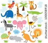 Stock vector set of vector animals 100058918