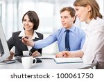 group of business people... | Shutterstock . vector #100061750