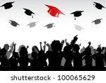 illustration of graduates...   Shutterstock .eps vector #100065629