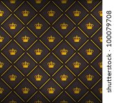 black seamless pattern with... | Shutterstock .eps vector #100079708
