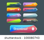 web elements vector button set | Shutterstock .eps vector #100080743