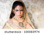 portrait of a beautiful indian... | Shutterstock . vector #100083974