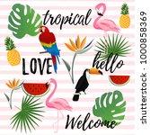tropical seamless pattern... | Shutterstock .eps vector #1000858369