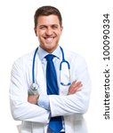 portrait of a confident doctor | Shutterstock . vector #100090334