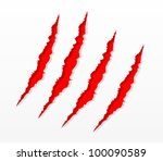 claw scratches vector | Shutterstock .eps vector #100090589