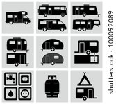recreation vehicle icons set.   Shutterstock .eps vector #100092089