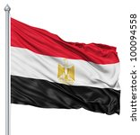 realistic 3d flag of egypt... | Shutterstock . vector #100094558
