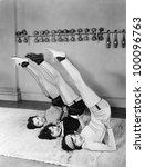 three women exercising | Shutterstock . vector #100096763
