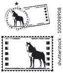 Mail Stamp With Thoroughbred...
