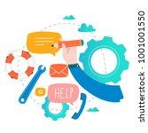 customer service  customer... | Shutterstock .eps vector #1001001550