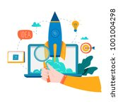 business project startup... | Shutterstock .eps vector #1001004298