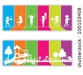 colorful billboard background...   Shutterstock .eps vector #100103408