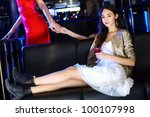 portrait of young attractive... | Shutterstock . vector #100107998