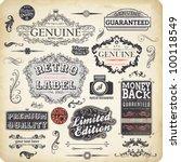 vector set  calligraphic design ... | Shutterstock .eps vector #100118549
