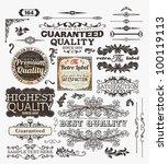 vector set of calligraphic... | Shutterstock .eps vector #100119113
