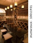 luxury home wine cellar. | Shutterstock . vector #10011931