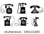 Set Of Old Vintage Telephones...