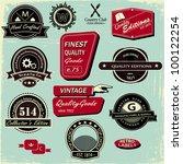 vintage style labels  set of 12 ...   Shutterstock .eps vector #100122254