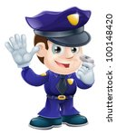 A Cute Police Man Character...