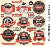 vintage premium quality labels  ... | Shutterstock .eps vector #100154636