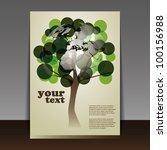 flyer or cover design   Shutterstock .eps vector #100156988