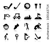 golf icons set icons set   ...