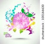 beautiful digital floral... | Shutterstock .eps vector #100166630
