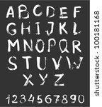 vector alphabet with numbers.   Shutterstock .eps vector #100181168