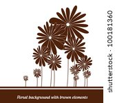 floral background with brown...   Shutterstock .eps vector #100181360