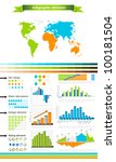 fresh colored infographic... | Shutterstock .eps vector #100181504