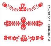 folk embroidery pattern | Shutterstock .eps vector #100187423