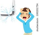 man desperate looking a... | Shutterstock .eps vector #100201754