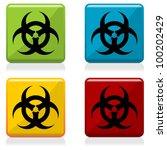 bio hazard sign buttons with... | Shutterstock .eps vector #100202429