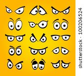set of cartoon eyes. | Shutterstock .eps vector #100206524