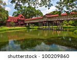 sanam chan palace  king rama 6  ...   Shutterstock . vector #100209860