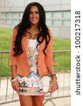 Small photo of Elissa Corrigan (Desperate Scousewives) arrives for Essex Fashion Week SS12 at CEME Conference Centre, Dagenham, London. 09/04/2012 Picture by: Steve Vas / Featureflash