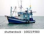 Small Fishing Boats Near The...