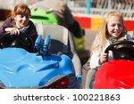 Teenage Girls Driving A Bumper...