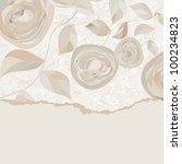 elegant vintage card template... | Shutterstock .eps vector #100234823
