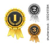 award ribbon. vector. | Shutterstock .eps vector #100245584