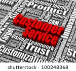 group of customer service... | Shutterstock . vector #100248368